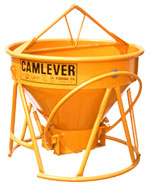 Camlever Lite 'N' Tuff concrete placement bucket