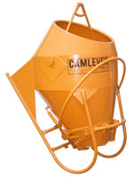 Camlever Round Laydown concrete placement bucket
