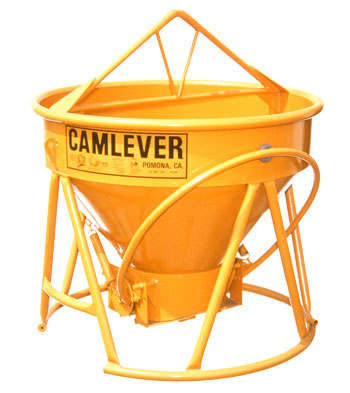 Camlever Standard concrete placement bucket